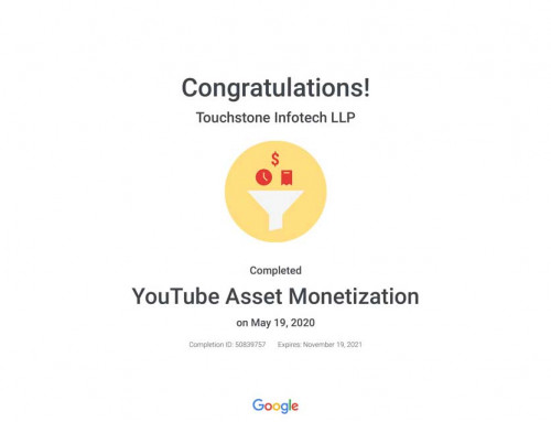 YouTube Asset Monetization Certification
