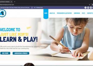 Preschool website designing