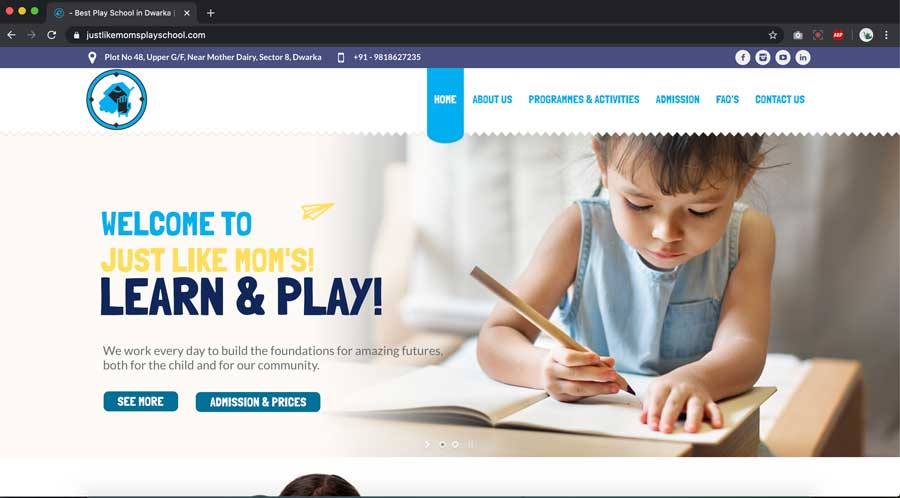 Preschool website designing