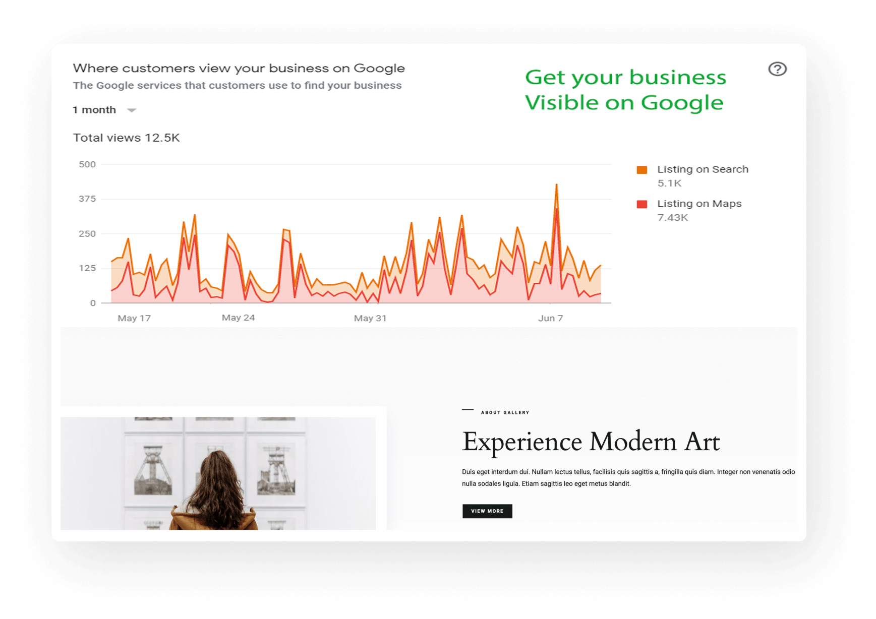 get business visible on google
