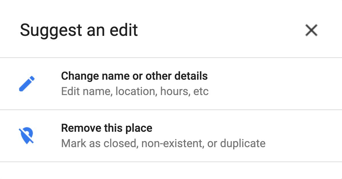 gmb suggest an edit