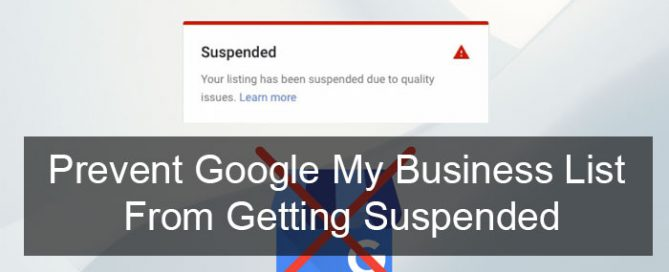 Prevent Google My Business List From Getting Suspended